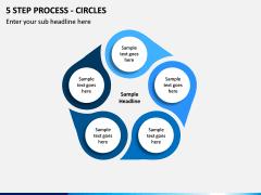 5 Step Process - Circles PPT slide 1