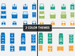 File Cabinet Icons PPT Cover Slide