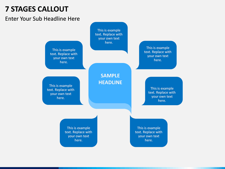 7 Stages Callout PPT Slide 1