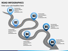 Road Infographics PPT Slide 9