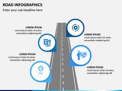 Road Infographics PPT Slide 1