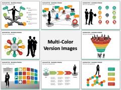 Silhouettes business person PPT slide MC Combined