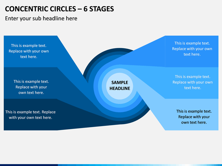 Concentric Circles – 6 Stages PPT Slide 1
