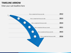 Timeline arrow PPT slide 2