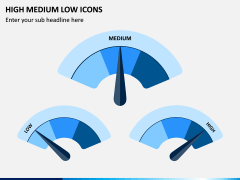 High Medium Low Icons PPT Slide 2