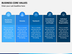 Business Core Values PPT Slide 9
