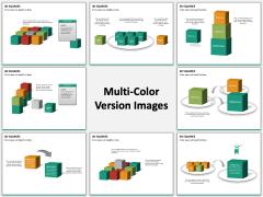 3D squares PPT slide MC Combined