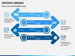 Opposite Arrows PPT Slide 9