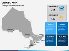 Ontario Map PPT Slide 11