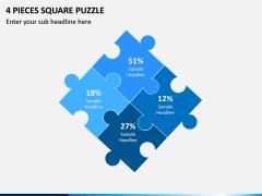 4 Pieces Square Puzzle PPT Slide 1