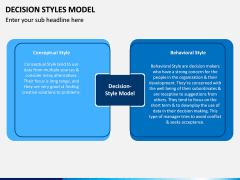 Decision Style Model PPT Slide 6