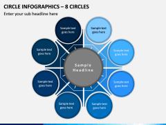 Circle Infographics – 8 Circles PPT slide 1