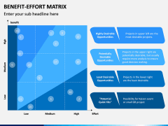 Benefit Effort Matrix PPT Slide 1