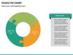 Puzzle pie chart PPT slide 17