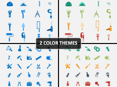 Tools Icons PPT Cover Slide