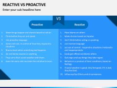 Reactive Proactive PPT Slide 9