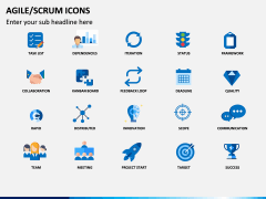 Agile SCRUM Icons PPT Slide 1