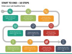 Start To End – 10 Steps PPT slide 2