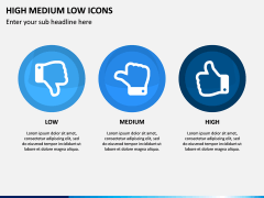 High Medium Low Icons PPT Slide 4