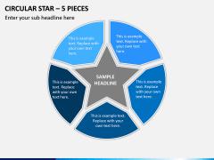 Circular Star – 5 Pieces PPT Slide 1