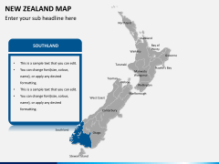 New zealand map PPT slide 11