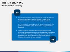 Mystery Shopping PPT Slide 1
