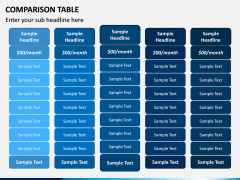 Comparison Tables PPT slide 4