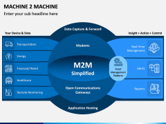 Machine to Machine (M2M) PPT Slide 1