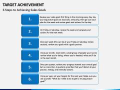 Target Achievement PPT slide 8
