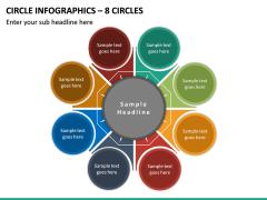 Circle Infographics – 8 Circles PPT slide 2