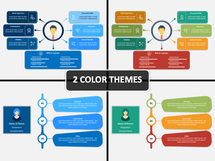 About Me Self Intro Powerpoint Template Sketchbubble