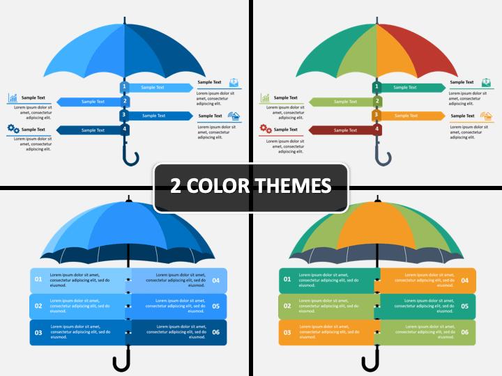 Umbrella Infographics PPT Cover Slide