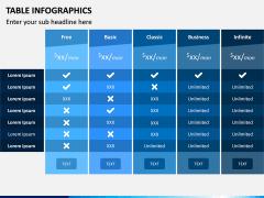 Table Infographics PPT Slide 12