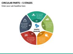 Circular Parts – 5 Stages PPT Slide 2