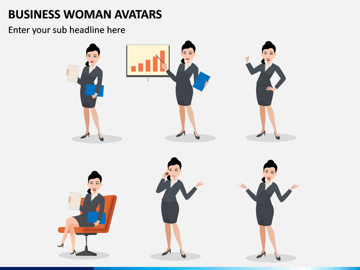 Business Woman Avatars PPT Slide 1