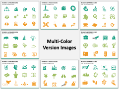 Business and finance icons PPT slide MC Combined