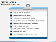 Service Promise PPT slide 5