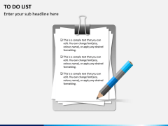 To do list PPT slide 5