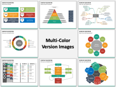 Startup ecosystem multicolor combined