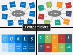 Goals setting PPT cover slide