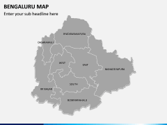Bengaluru Map PPT Slide 2