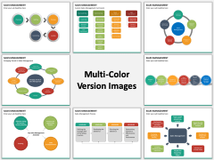Sales management multicolor combined