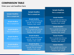 Comparison Tables PPT slide 11