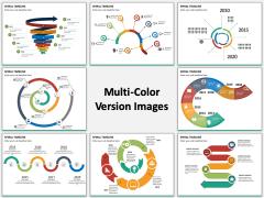 Spiral Timeline multicolor combined