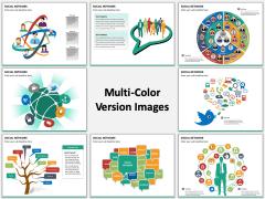Social network multicolor combined