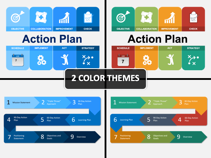 Action Plan PPT Cover Slide