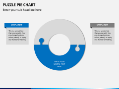 Puzzle pie chart PPT slide 13