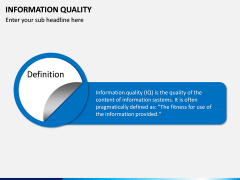 Information Quality PPT Slide 1