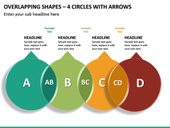 Overlapping Shapes – 4 Circles With Arrows PPT Slide 2