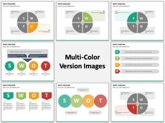 Swot Analysis Flat - Multicolor Combined